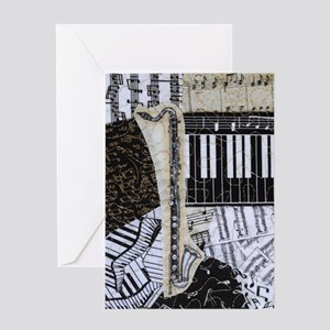 bass-clarinet-ornament Greeting Card