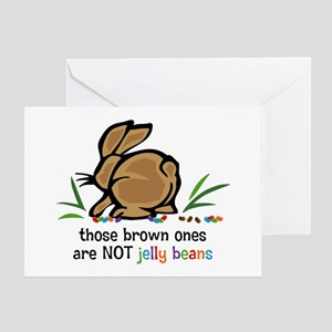 Brown Jelly Beans Card Greeting Cards