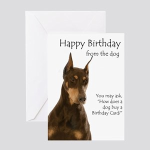 Doberman Birthday Card Greeting Cards
