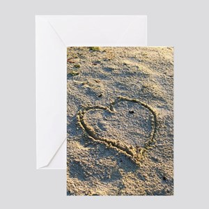 Heart in Sand <br> Greeting Card