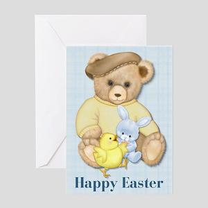 Easter Teddy Boy Greeting Card