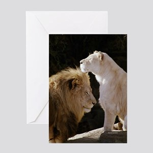 Lions Yin Yang Greeting Card