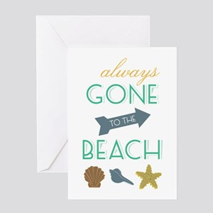 To The Beach Greeting Cards