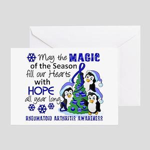 Holiday Penguins RA Greeting Card
