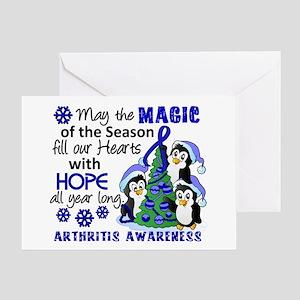 Holiday Penguins Arthritis Greeting Card