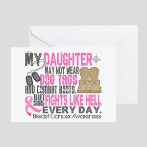 Dog Tags Breast Cancer Greeting Card