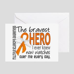 Bravest Hero I Knew Multiple Sclerosis Greeting Ca