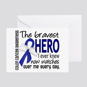 Bravest Hero I Knew Colon Cancer Greeting Card