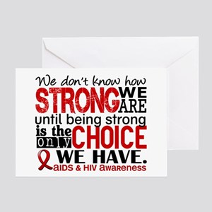 AIDS How Strong We Are Greeting Card