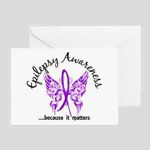 Epilepsy Butterfly 6.1 Greeting Card