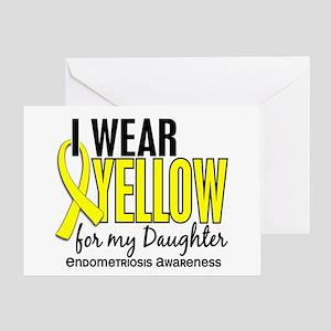 I Wear Yellow 10 Endometriosis Greeting Card