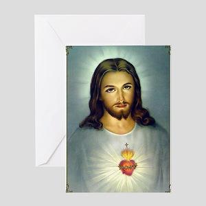 Jesus Sacred Heart Greeting Cards