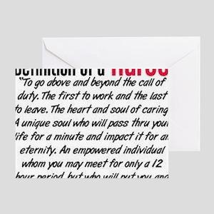 Definition of a nurse Greeting Card
