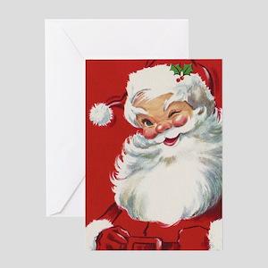 Vintage Christmas Jolly Santa Claus Greeting Card