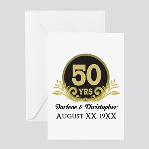 50th Anniversary Personalized Greeting Cards