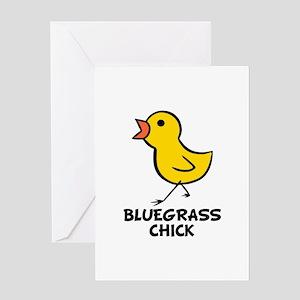 Bluegrass Chick Greeting Card