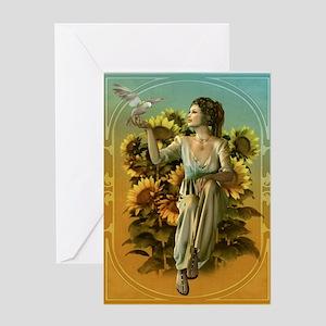 Art Nouveau Daytime Greeting Card