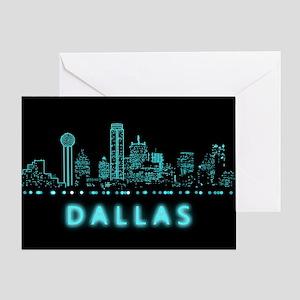 Digital Cityscape: Dallas, Texas Greeting Card