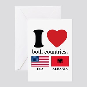 USA-ALBANIA Greeting Card