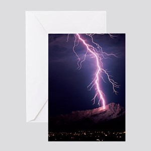 Lightning over Tucson Greeting Card