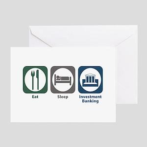 Eat Sleep Investment Banking Greeting Card