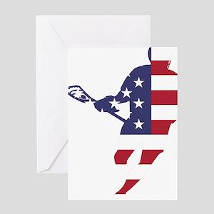 Lacrosse IRockMericaHorz Greeting Card