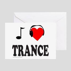 TRANCE MUSIC Greeting Card