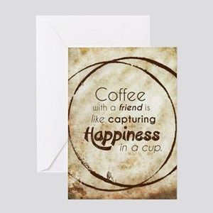 COFFEE WITH A FRIEND Greeting Cards