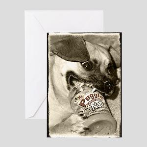 Puggle Peanut Butter Greeting Card