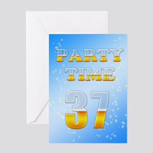 37th birthday party beer Greeting Card