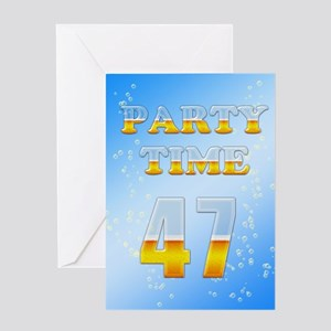 47th birthday party beer Greeting Card