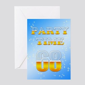68th birthday party beer Greeting Card