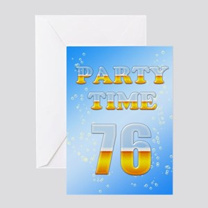 76th birthday party beer Greeting Card