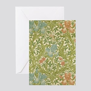 William Morris Iris Greeting Cards