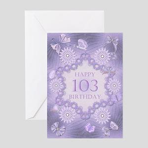 103rd birthday lilac dreams Greeting Cards
