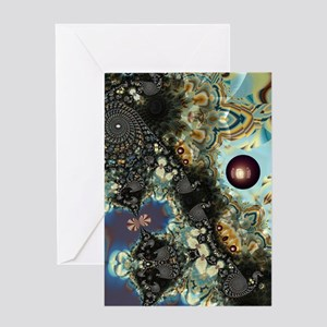 Storm Shadow Fractal Greeting Cards