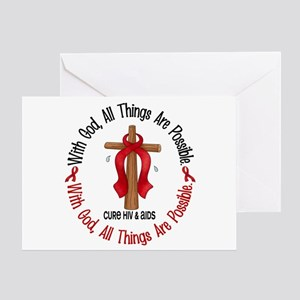 With God Cross HIV AIDS Greeting Card