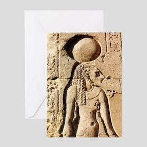 Sekhmet Lioness Goddess of Upper Egypt Greeting Ca