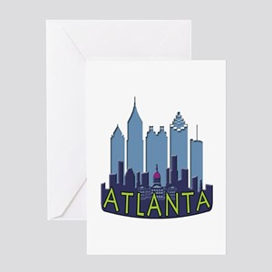 Atlanta Skyline Newwave Cool Greeting Card
