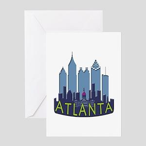 Atlanta Skyline Newwave Cool Greeting Card