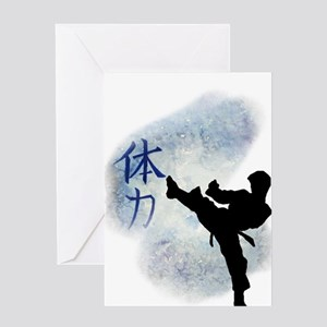Power Kick 2 Greeting Cards