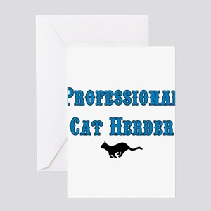 Professional Cat Herder Greeting Card