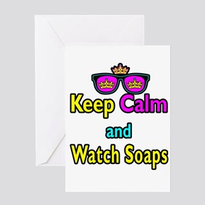Crown Sunglasses Keep Calm And Watch Soaps Greetin