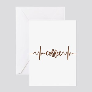 COFFEE HEARTBEAT Greeting Cards
