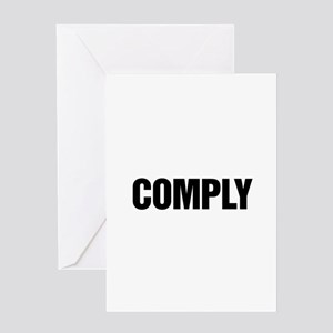 COMPLY Greeting Card