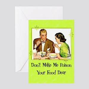 Food Poisoning Greeting Card