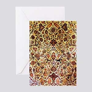 Persian silk carpet Greeting Card