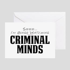 Shhh... I'm Binge Watching Criminal Minds Greeting