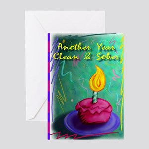 Another Year Clean and Sober Greeting Card
