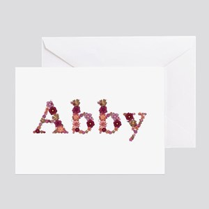 Abby Pink Flowers Greeting Card
